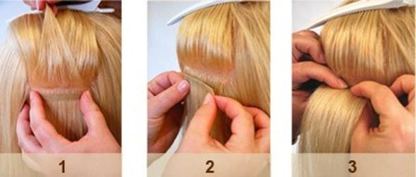 4325953f5 vlasy sú rovnomerne a kompaktne rozložené na šírku spoja, čím nevzniká  dredovanie a motanie predĺžených vlasov. - pásiky sa nedotýkajú pokožky, ...